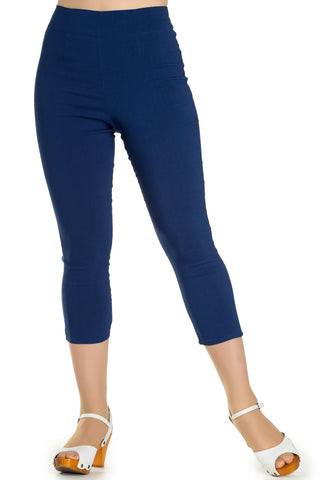 Tina Capri Pants in Navy - Kit'n'Heels