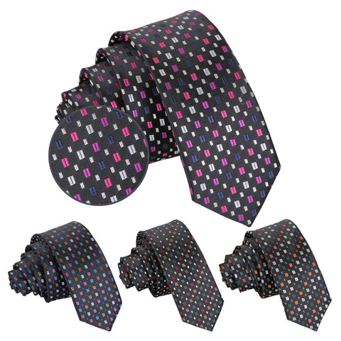 Bohemian Geometric Skinny Tie in 4 colours