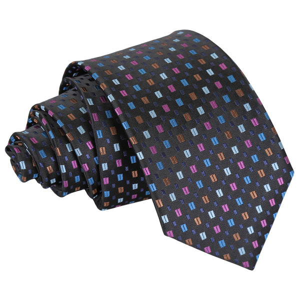 Bohemian Geometric Slim Tie in 4 colours