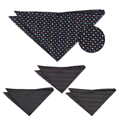 Bohemian Geometric Pocket Square in 4 colours