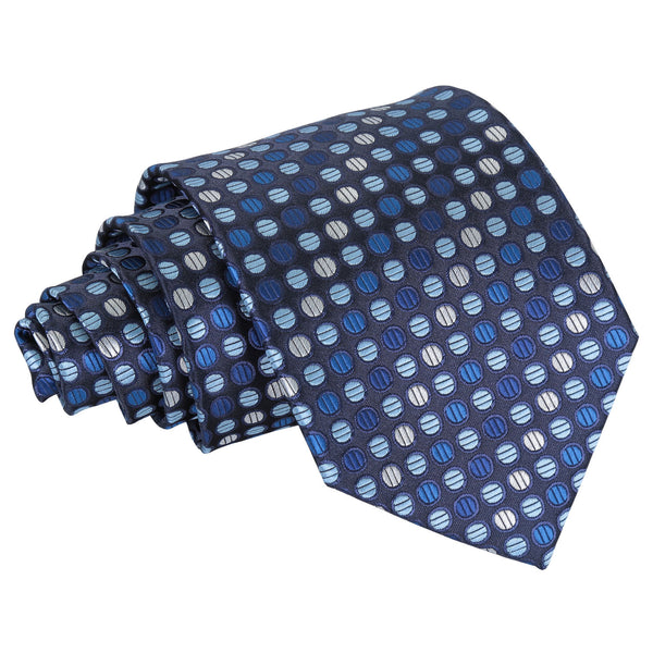 Chequered Polka Dot Classic Tie in 6 colours