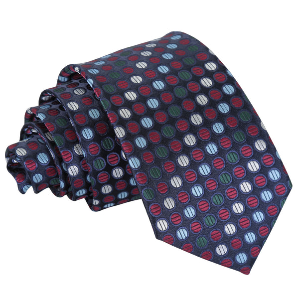 Chequered Polka Dot Slim Tie in 6 colours