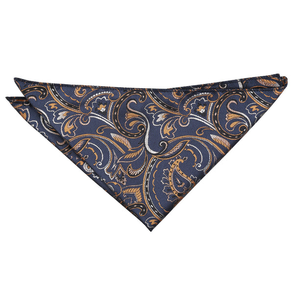 Cypress Paisley Pocket Square in 5 colours