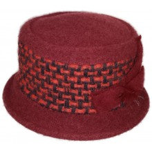 Women's Wool Vintage Cloche Hat - Plum