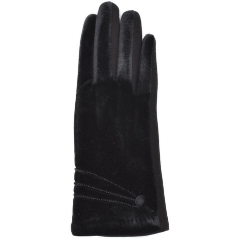 Women's Velvet Gloves - Black - Kit'n'Heels