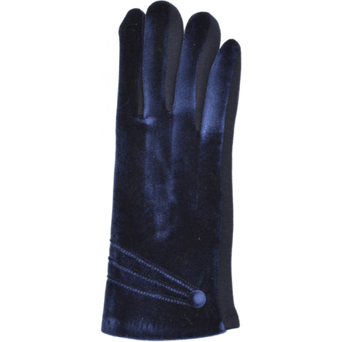 Women's Velvet Gloves - Navy Blue - Kit'n'Heels