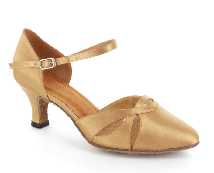 Poppy - Ladies' Gold Satin Ballroom Dance Shoes
