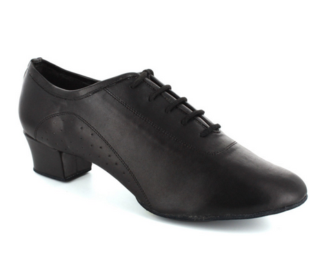 Cesare - Black Man's Latin Cuban Heel Dance Shoe - Kit'n'Heels