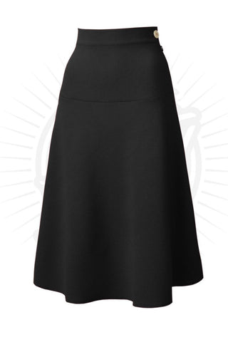 1940's Style Swing Skirt in Black - Kit'n'Heels