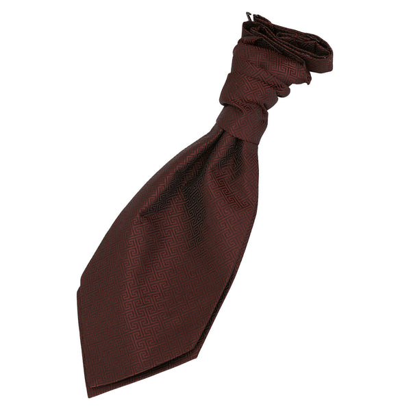 Greek Key Pre-Tied Ruche Cravat in 12 colours - Boys
