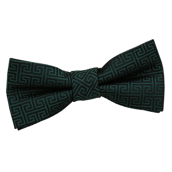 Greek Key Pre-Tied Bow Tie in 12 colours - Boys