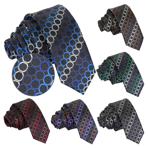 Honeycomb Polka Dot Skinny Tie in 6 colours
