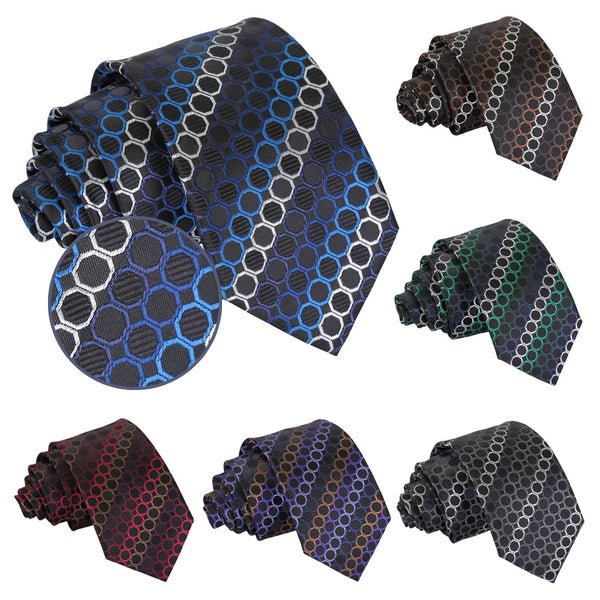 Honeycomb Polka Dot Slim Tie in 6 colours