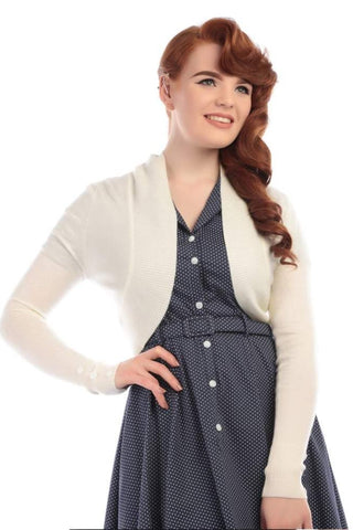 Collectif Jean Ivory Knitted Bolero