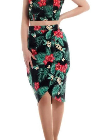 Collectif Mainline Tropical Paradise Sarong Skirt