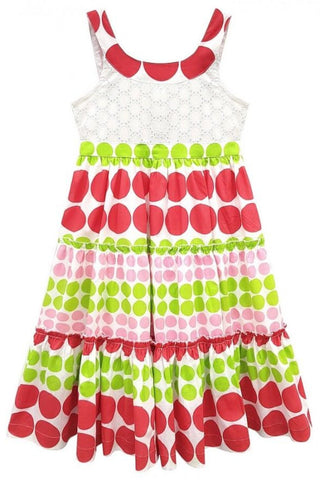 Large Polka Dot Girls Sundress