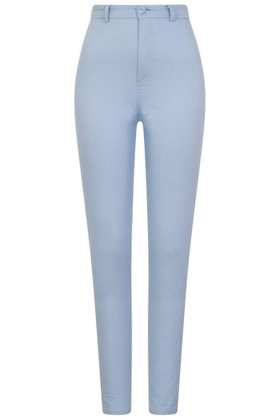 Collectif Maddie Plain Jeans in Pale Blue