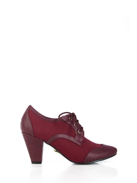Martha Heel Burgundy - Ladies Fashion Shoes
