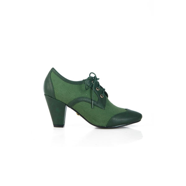 Lulu Hun Martha Heel Green - Ladies Fashion Shoes