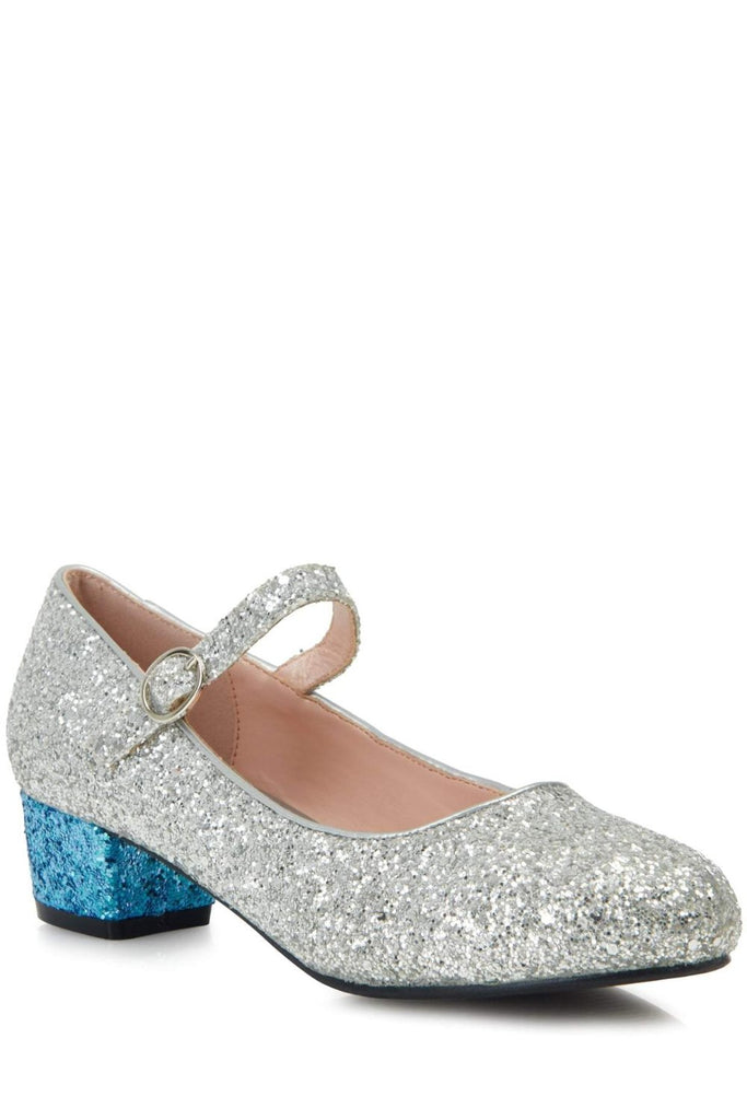 Lulu Hun Maryjane Block Heel Glitter Fashion Shoes