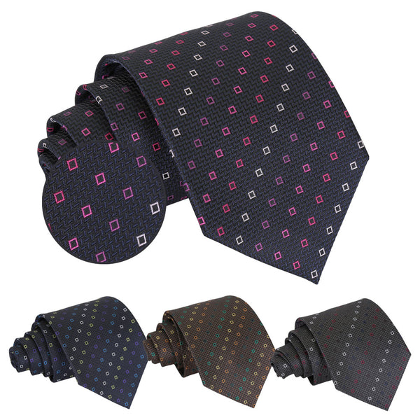 Mini Diamond Geometric Classic Tie in 4 colours