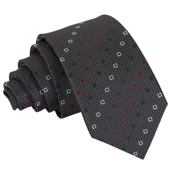 Mini Diamond Geometric Slim Tie in 4 colours