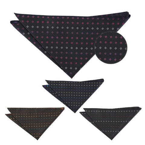 Mini Diamond Geometric Pocket Square in 4 colours