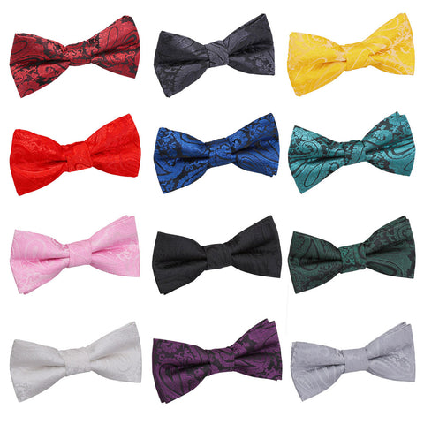 Paisley Pre-Tied Bow Tie in 12 colours - Boys