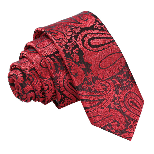 Paisley Skinny Tie in 18 colours