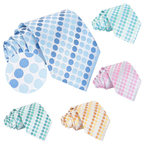 Pastel Polka Dot Classic Tie in 5 colours