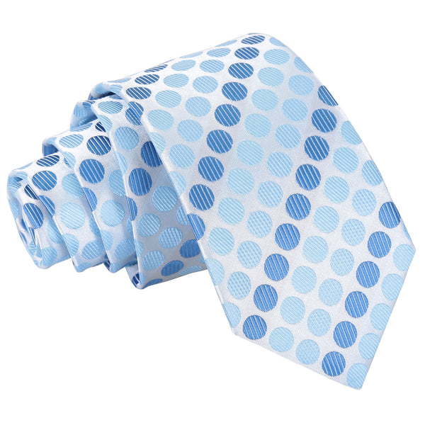 Pastel Polka Dot Slim Tie in 5 colours
