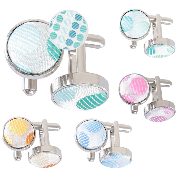 Pastel Polka Dot Cufflinks in 5 colours