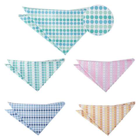 Pastel Polka Dot Pocket Square in 5 colours