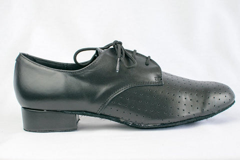 Pete - Man's Wide Fitting Black Leather Ballroom Dance Shoes