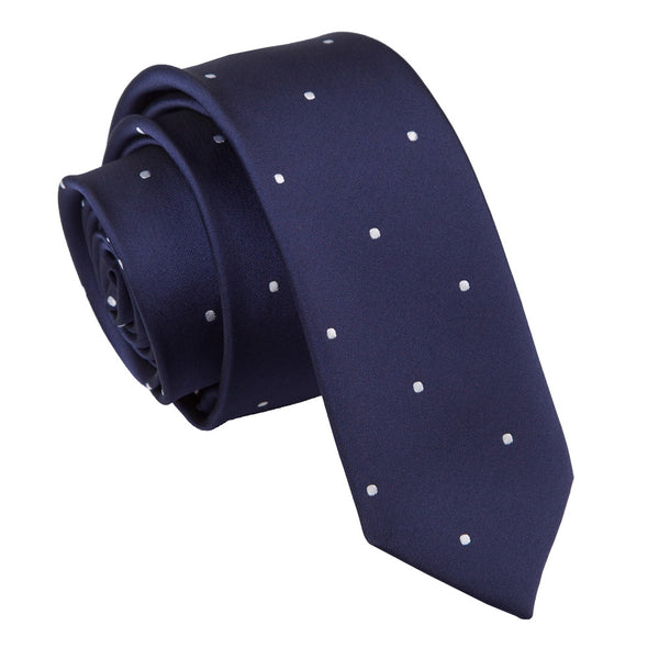 Pin Dot Skinny Tie in 8 colours