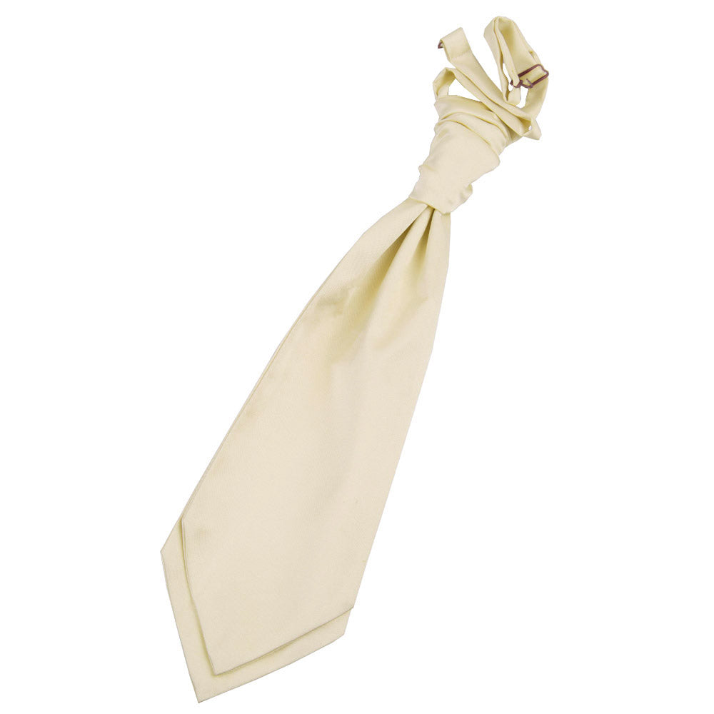 Plain Satin Pre-Tied Ruche Cravat in 31 colours