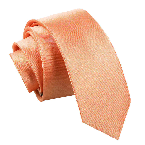 Plain Satin Skinny Tie in 33 colours