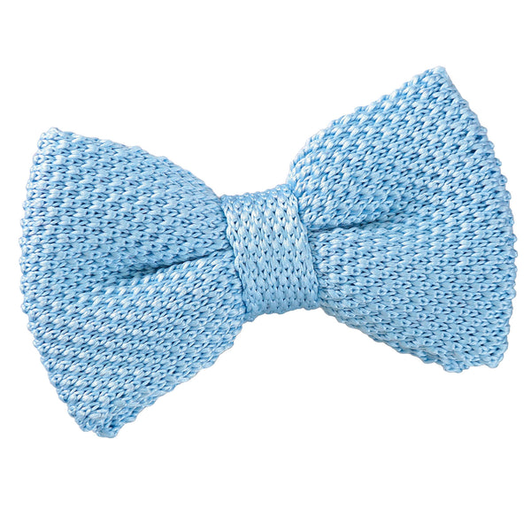 Plain Knitted Pre-Tied Bow Tie in 16 colours - Boys