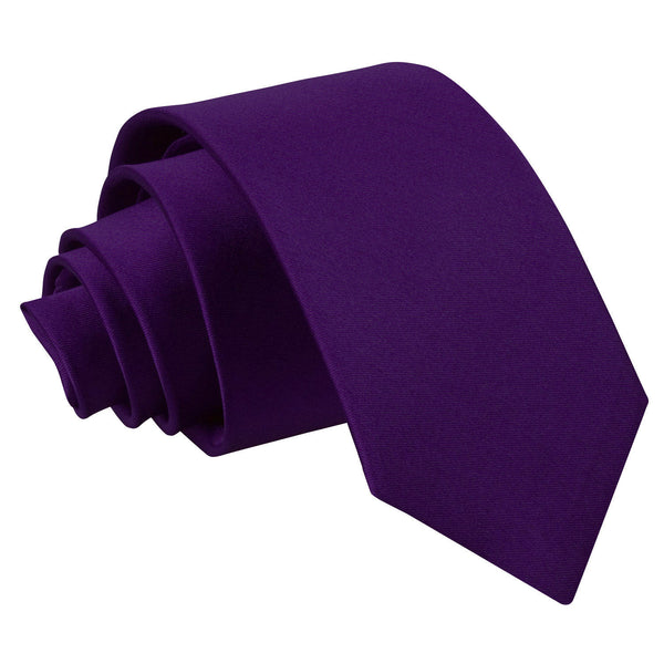 Plain Satin Slim Tie in 33 colours