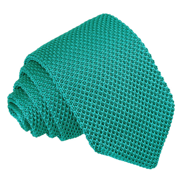 Plain Knitted Slim Tie in 16 colours