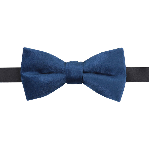 Plain Velvet Pre-Tied Bow Tie in 10 colours