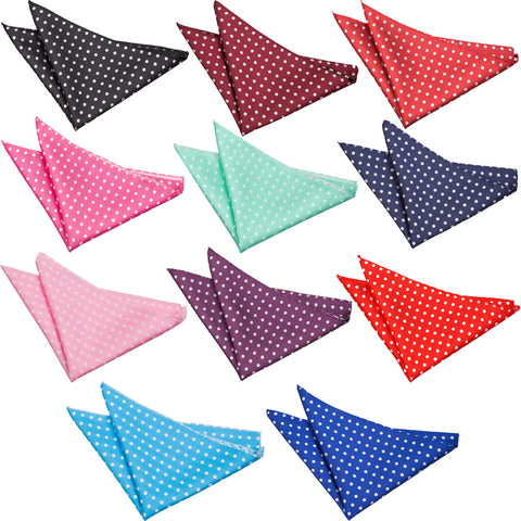 Polka Dot Pocket Square in 11 colours