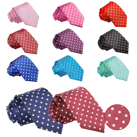 Polka Dot Slim Tie in 11 colours