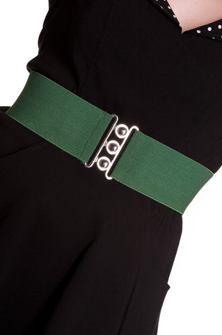 Retro Waspi Belt-Olive Green - Kit'n'Heels