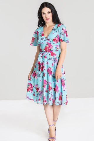 Primavera Short Sleeve Chiffon Dress