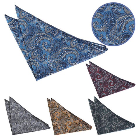 Royal Paisley Pocket Square in 6 colours