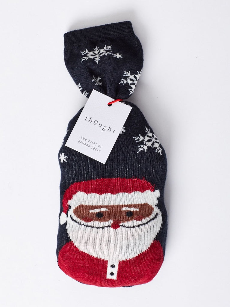 Socks in a bag - Christmas Santa- Mens - Kit'n'Heels