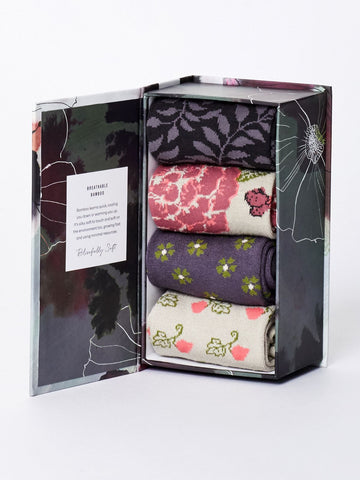 Socks Gift Box - Floral Pattern-Ladies - Kit'n'Heels
