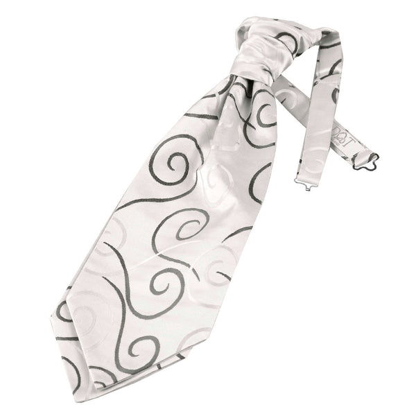 Scroll Pre-Tied Ruche Cravat in 9 colours