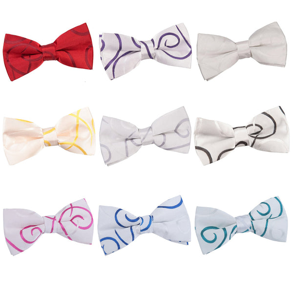 Scroll Pre-Tied Bow Tie in 9 colours